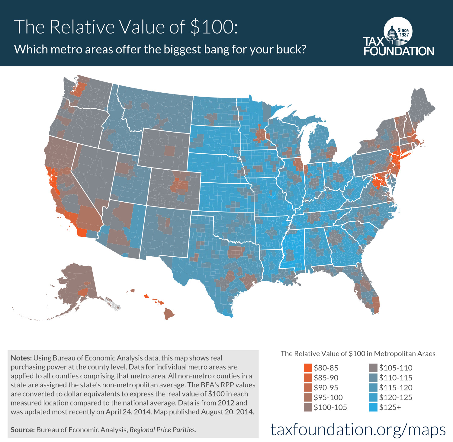 The relative value of 100 in every american state and What is the most expensive city in america