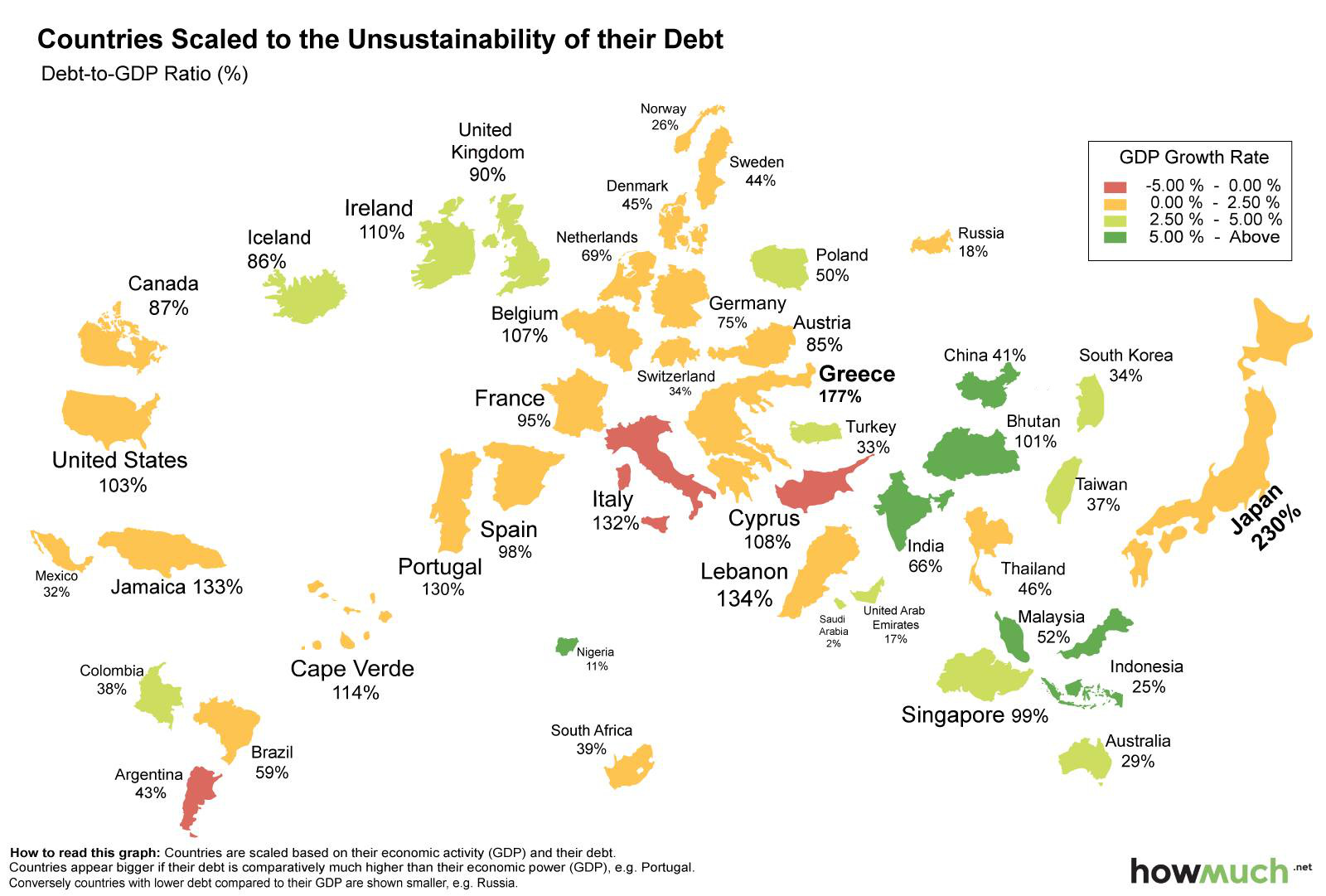 Infographic the world map of debt the world map of debt gumiabroncs Gallery