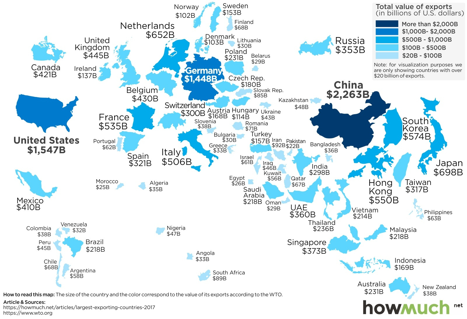 Visualizing the World's Biggest Exporters in 2017