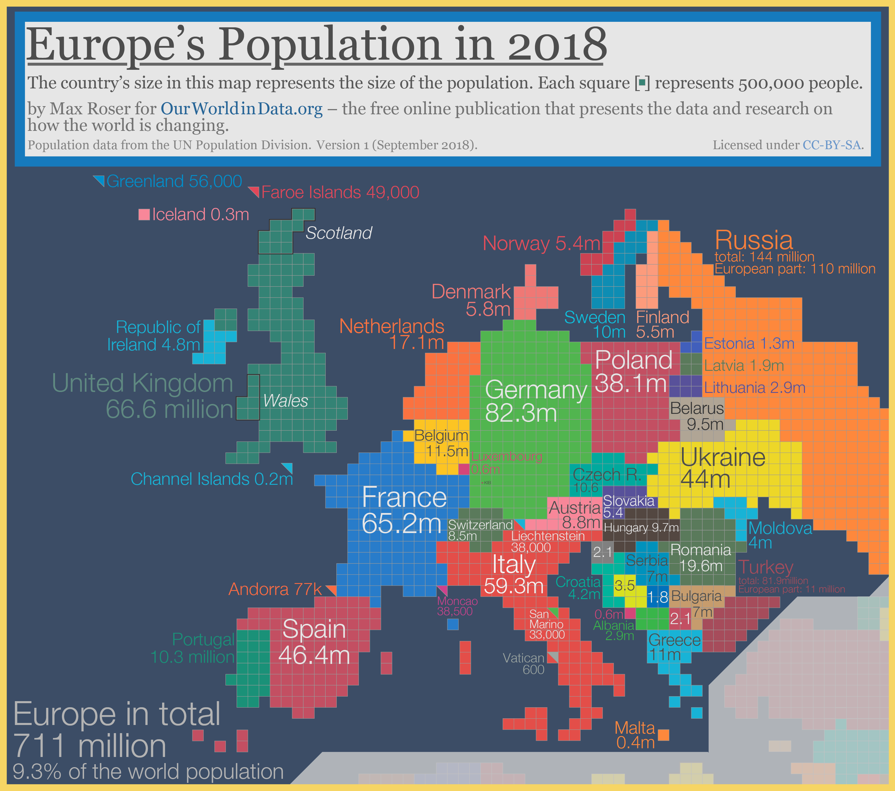 This fascinating world map was drawn based on country populations europe cartogram gumiabroncs Image collections